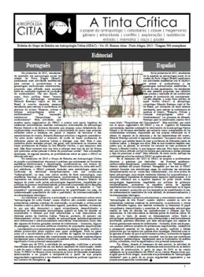Quarta edição da Tinta Crítica! / Cuarta edición de la TintaCrítica!