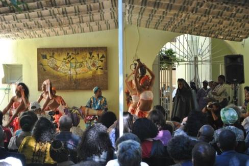 Patio de la Casa de África en la inauguración del Taller de Antropología Social Afroamericana de 2011.