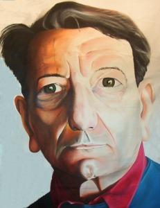 Jacques Rancière retratado por Dennis DeToye