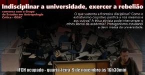 Indisciplinar a universidade, exercer a rebelião – Roda de Conversa com oGEAC