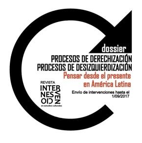 """Chamada para intervenções: dossiê """"Processos de direitização, processos de desesquerdização"""""""