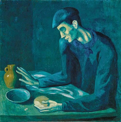 A refeição do homem cego, Pablo Picasso (1903).